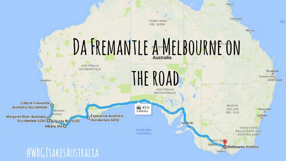 da fremantle a melbourne on the road
